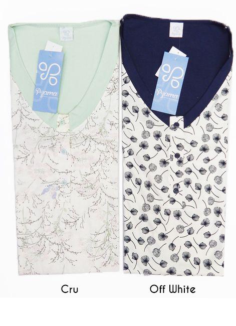 Camisola Regatão de Algodão com Botões Plus Size Pzama 052095