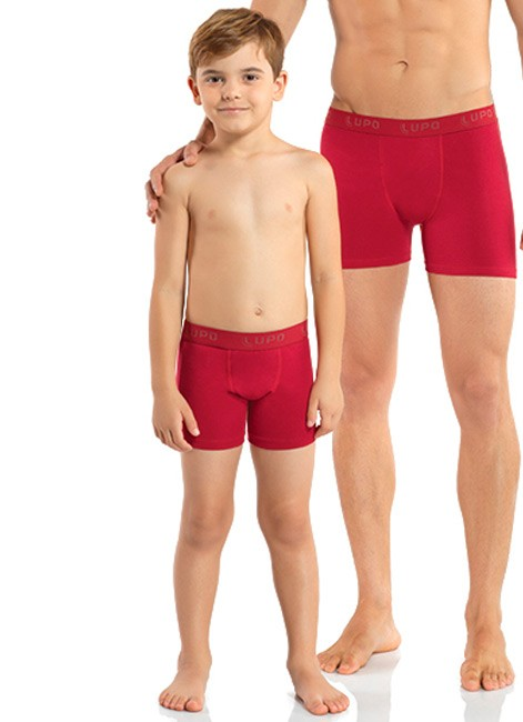 Cueca Boxer Infantil de Algodão Lupo 150-002    Intimitat 0481461984939