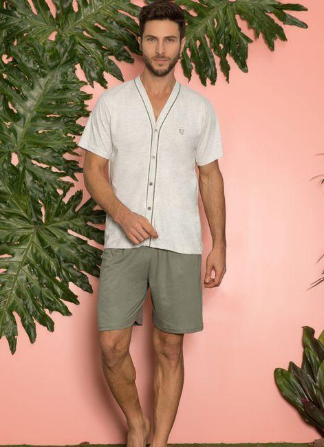 Pijama Curto Masculino de Verão Aberto Pzama 052091