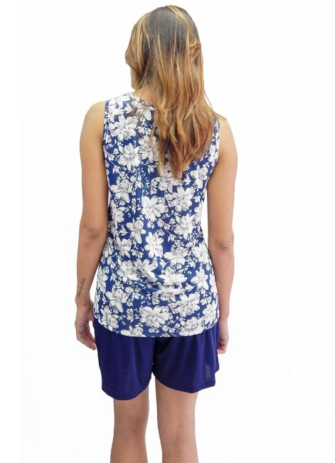 Pijama Curto Shortdoll de Liganete Estampada Uncer Co. 001054