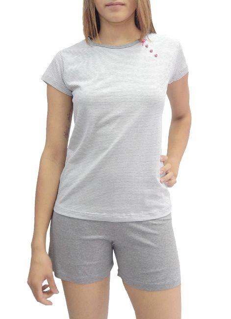 Pijama Feminino Curto de Verão em Algodão Foxx 263043