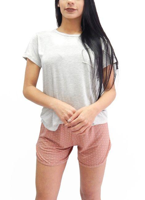 Pijama Feminino Curto Shortdoll com Poá Foxx 263052