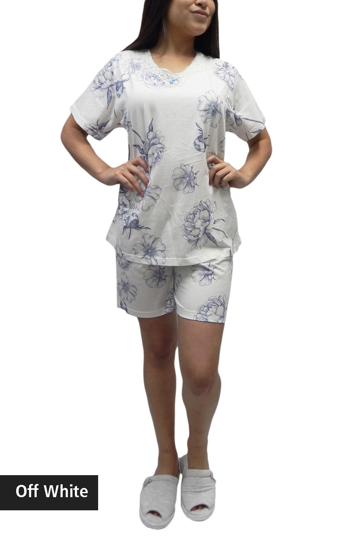 Pijama Feminino Estampado com Bermuda 100% Algodão - Foxx 263301