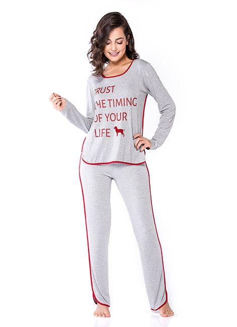 Pijama Feminino Estampado Podiun 233025