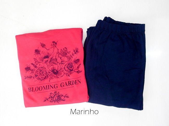 Pijama Feminino Flanelado Longo de Inverno Fino Under Co.001014