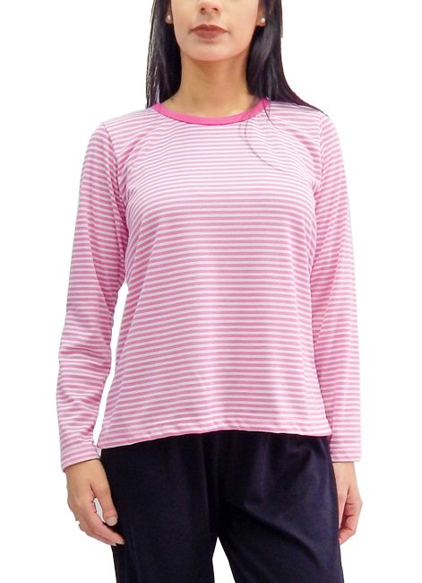 Pijama Feminino Grosso de Inverno Listrado Foxx 262236