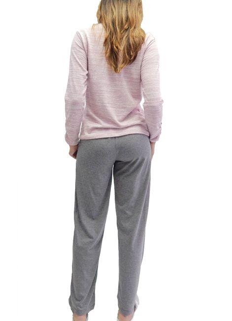 Pijama Feminino Longo de Algodão Foxx 262031