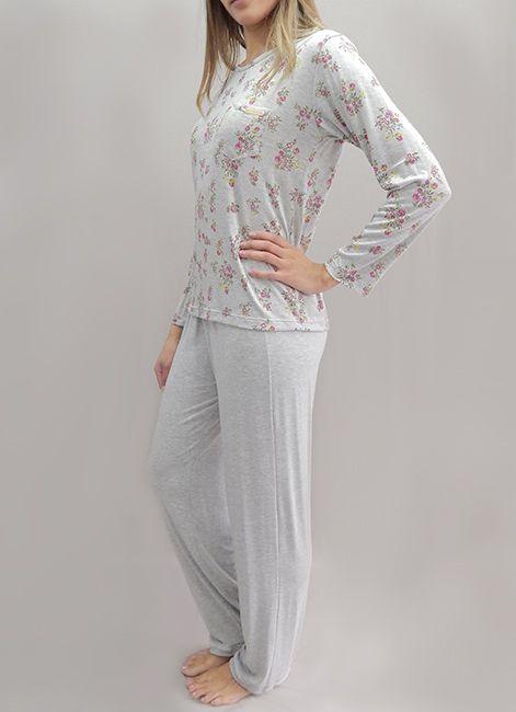 Pijama Feminino Longo de Viscose Foxx 262084