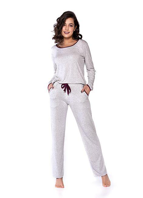 5b57528e2 Encontre Pijama feminino longo com manga e