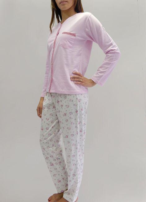Pijama Feminino Manga Longa Aberto em Moletinho Foxx 262518