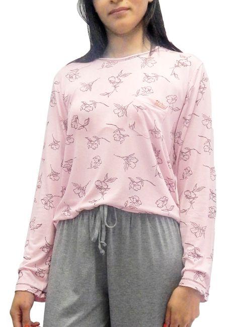 Pijama Feminino Manga Longa de Inverno Foxx 262364