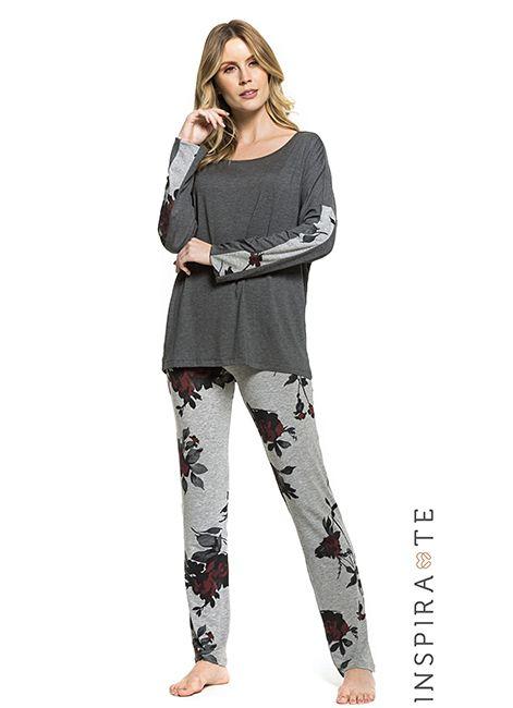 1201a5154 Pijama Feminino Manga Longa Estampado Under Co 001437