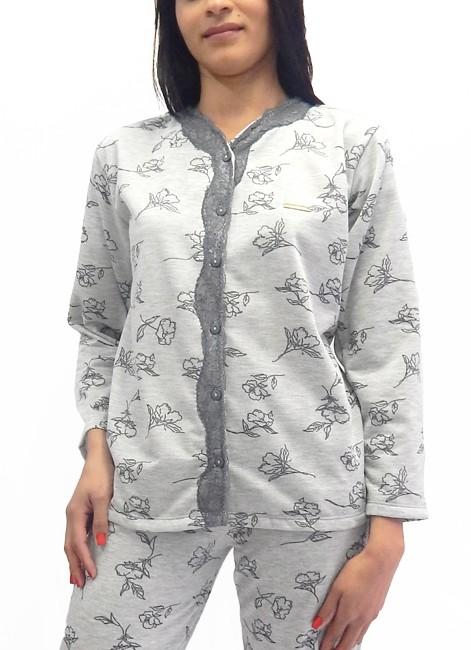 a493fe47d ... Pijama Feminino Manga Longa Grosso com Botões Foxx 262261
