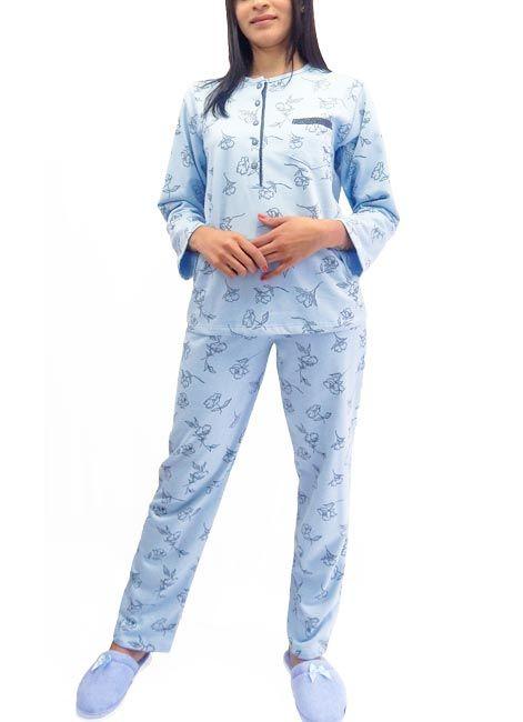 08f6974f6 Pijama Feminino Manga Longa Grosso com Botões Foxx 262265