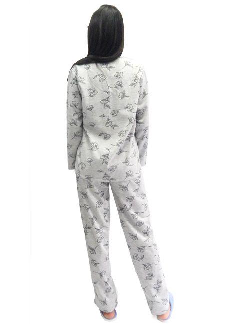 62edc1db6 ... Pijama Feminino Manga Longa Grosso com Botões Foxx 262265