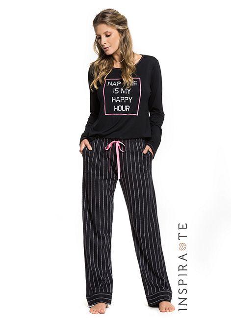 4a33a5a6e Pijama Feminino Manga Longa Under Co 001444