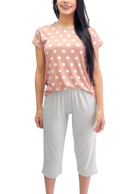 Pijama Feminino Pescador de Viscose Estampado Foxx 263056