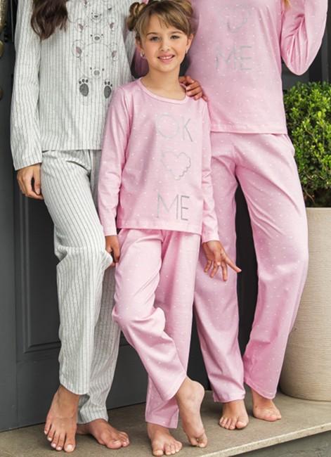 2e3b21d3ad23e Pijama Infantil de Inverno Manga Longa em Algodão Pzama 052055