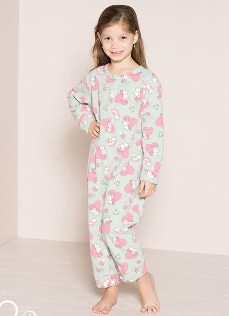 Pijama Infantil Menina Aberto de Soft 8001 Pzama 052257