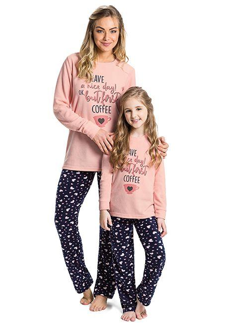 51d3c8a87 Pijama Infantil Menina Estampado de Soft 42753 Malwee Liberta 088030