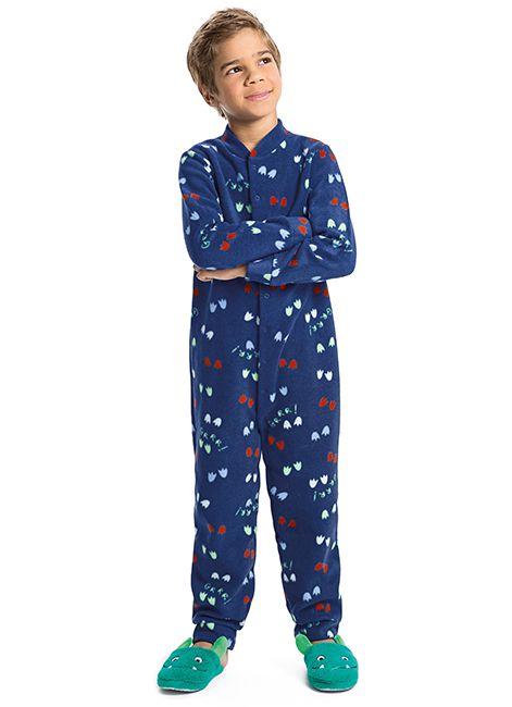 Pijama Infantil Menino Estampado de Soft 52237 Malwee Liberta 088038