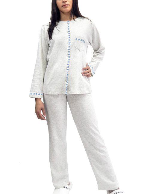 46c2ac6e1 Pijama Manga Longa Aberto de Moletinho Foxx 262212