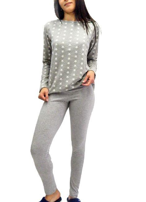 45fa2816f57cb3 Pijama Feminino de Moletom com Legging Under Co - Intimitat