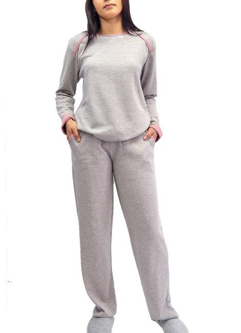 78139c299 Pijama Manga Longa Feminino de Moletinho Foxx 262874