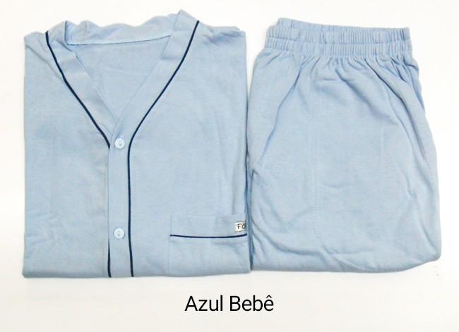 Pijama Masculino Curto de Algodão com Botões Foxx 262131