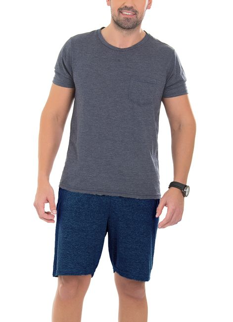 Pijama Masculino Curto Liso de Algodão Foxx 262500
