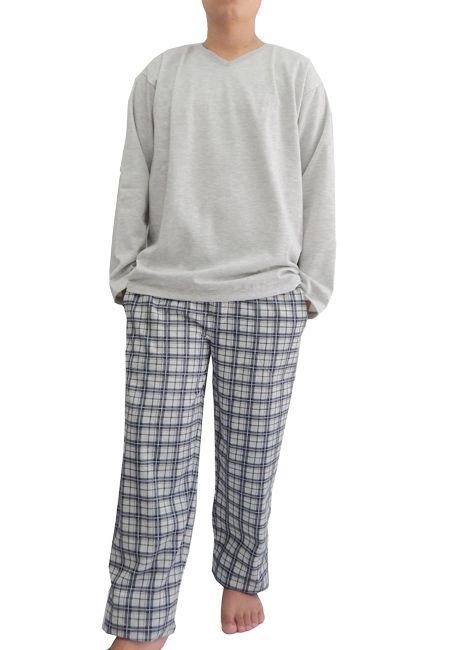 6bd65f4d6 Pijama Masculino Longo Flanelado Decote em