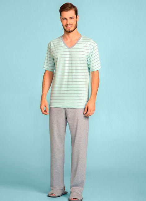 Pijama Masculino Manga Curta com Calça Lua Encantada 187035