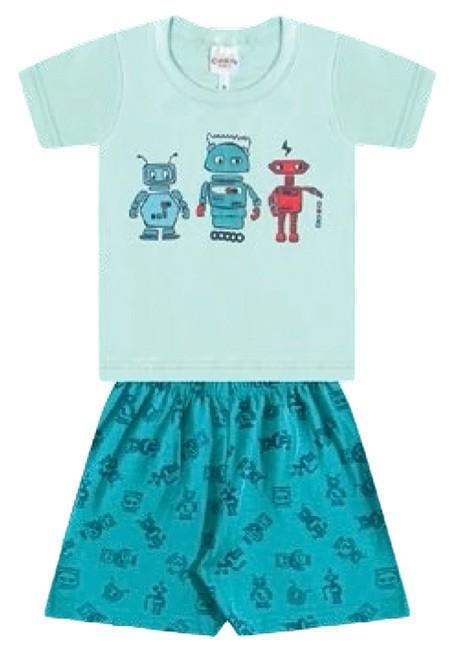 Pijama Menino Verão de Algodão 7d01805cdb3ad