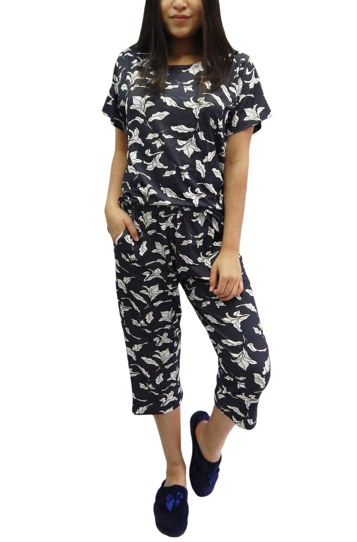 Pijama Pescador Capri Estiloso em Visco Molinha - Foxx 263354