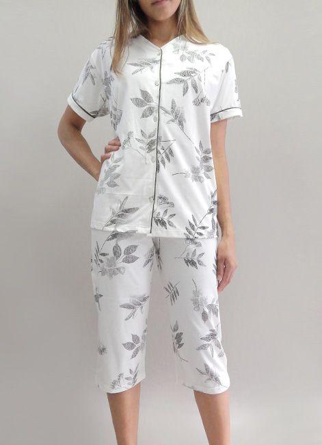 Pijama Pescador Manga Curta com botões Foxx 262018