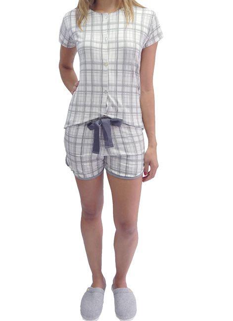 Pijama  Short Doll Aberto XadrezFoxx 262901