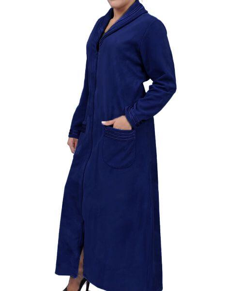 Robe Feminino de Inverno Longo de Soft com Zíper Foxx 320046