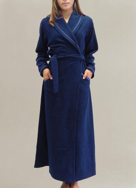Robe Feminino de Inverno Longo de Soft Transpassado Foxx 320001