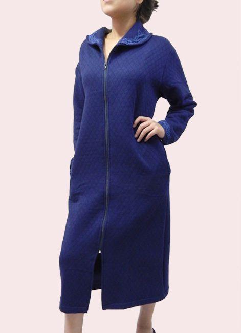 Robe quente de Matelasse Ziper e comprimento Midi Foxx 262097