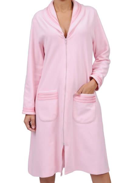 aadb84fbb0bb22 Robe Feminino de Inverno Longo de Soft com Zíper Foxx 320046