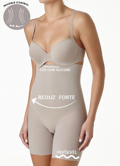 Semi Body Redutor com Perninhas Zero Marcas Liz 73381 ( Invisible Control )