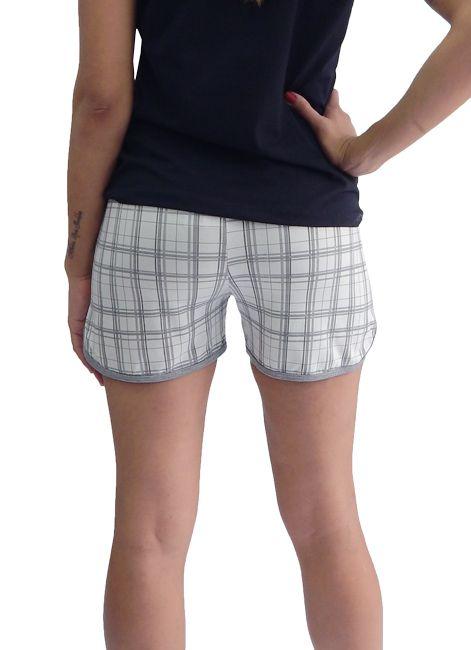 Short Feminino Avulso Estampado com Bolsos Foxx 262904