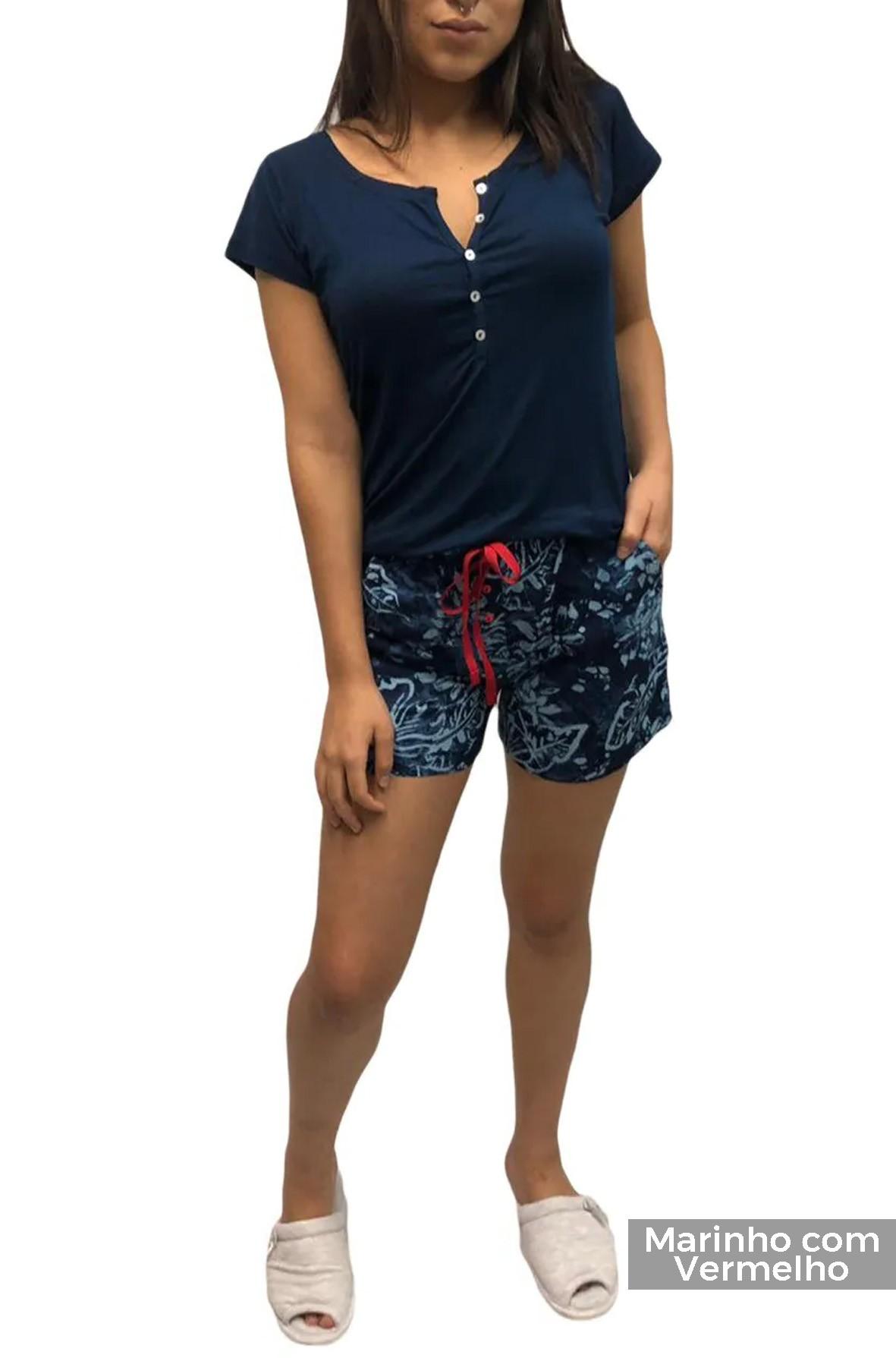 Shorts Poá Tricoline de Viscose para Pijama ou Lougewear - Foxx