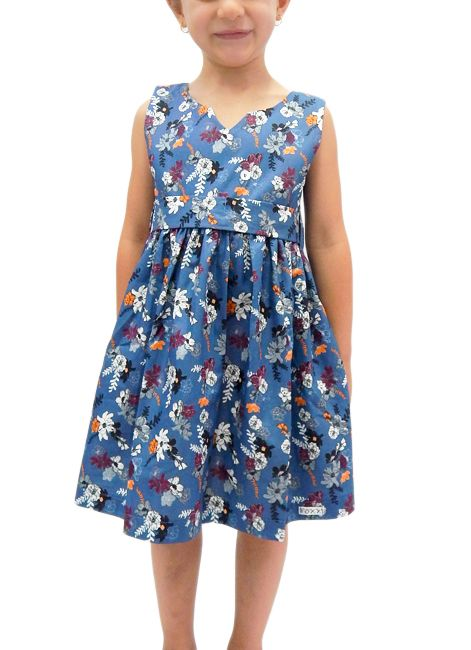 f77166c9018b7 Vestido Infantil de Verão em Algodão Tam. 1 ao 4 Foxx 262291
