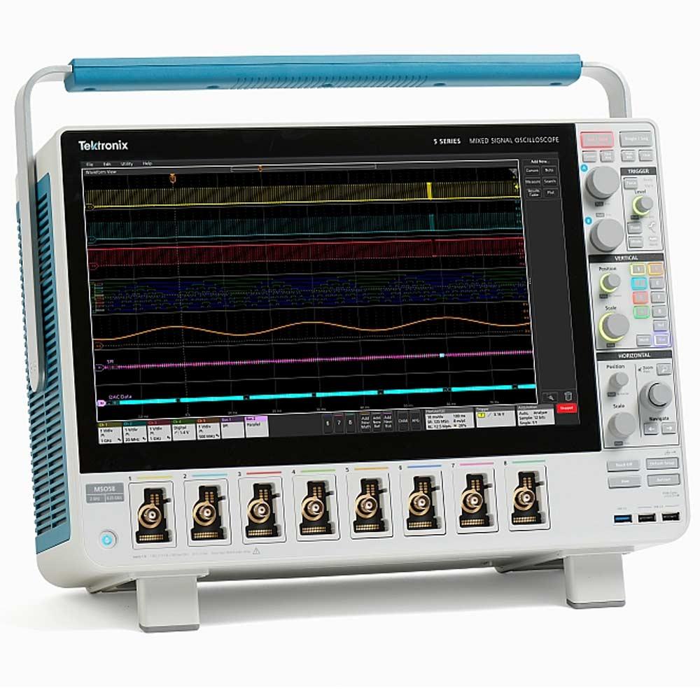 5 série MSO Osciloscópio de 8 Canais Analógicos