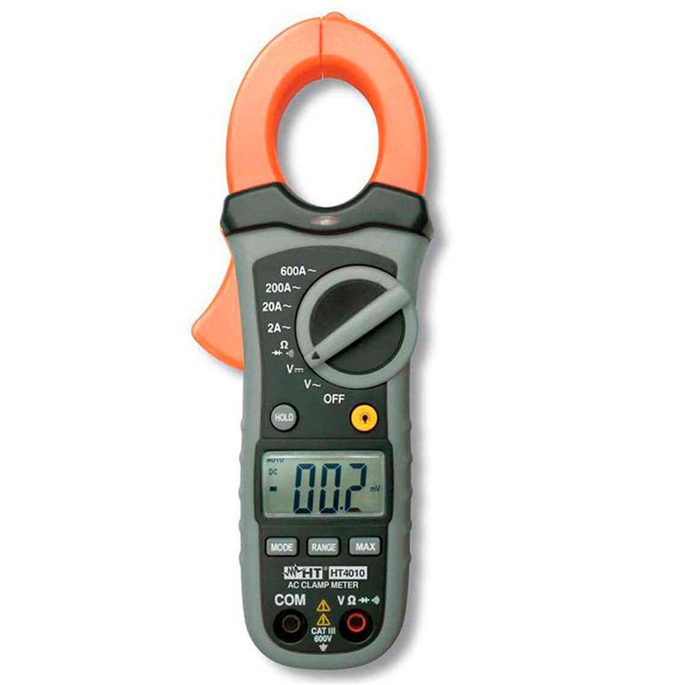 HT4010 Alicate amperímetro 600A com detector de tensão