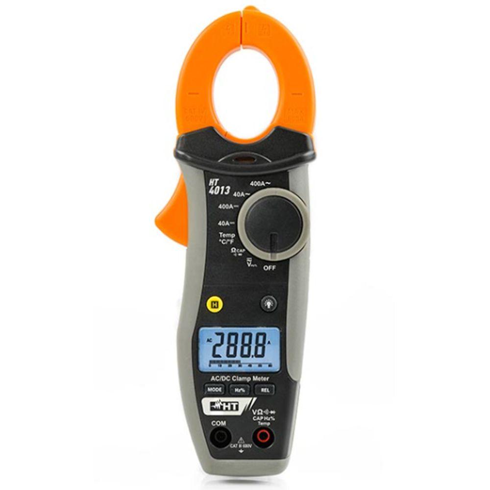 HT4013 Alicate amperímetro AC/DC 400A com detecção de tensão sem contato.