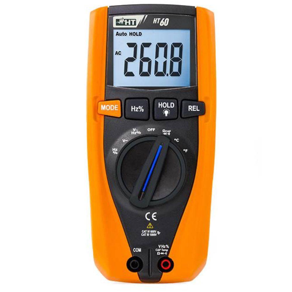 HT60 Multímetro TRUE-RMS com medição de temperatura