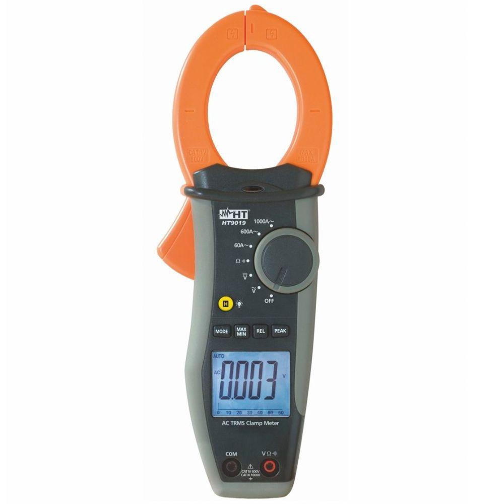 HT9019 Alicate amperímetro TRMS para correntes até 1000A