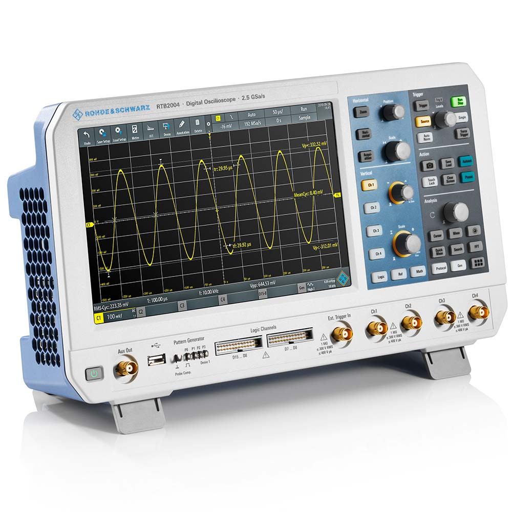 RTB2004 Osciloscópio Rohde & Schwarz 70MHz 4 canais